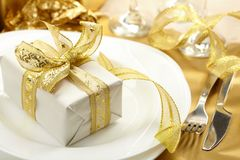 Holiday background. With glass of fizz Royalty Free Stock Photography