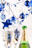 Holiday background. Wiht glass of fizz Royalty Free Stock Photo
