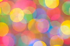 Holiday background. Abstact coloured blur lights unfocused Stock Images