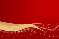 Holiday background. Golden holiday background on red Stock Image