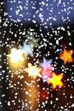 Holiday background. Blurred holiday background with star-shaped highlights Royalty Free Illustration