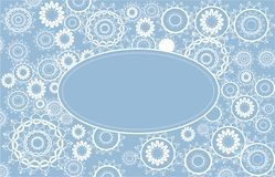 Holiday background. Different snowflakes on the blue background Royalty Free Stock Photography