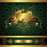 Holiday background. Illustration of golden design background Royalty Free Stock Image
