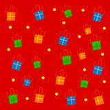 Holiday background. Vector illustration of holiday background with gifts Royalty Free Stock Image
