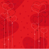 Holiday background. Vector  holiday background with hearts Stock Images