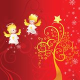 Holiday background with angel Royalty Free Stock Photo