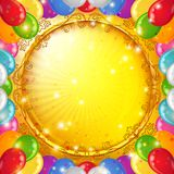 Holiday background with balloons Royalty Free Stock Images