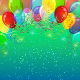 Holiday background with balloons Royalty Free Stock Image