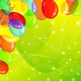 Holiday background with balloons Stock Photography
