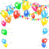 Holiday background with balloons Royalty Free Stock Photo