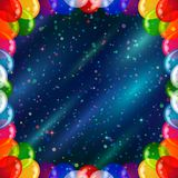 Holiday background with balloons frame Royalty Free Stock Photos