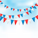 Holiday background with birthday flags Stock Photos