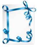 Holiday background with blue gift bows Stock Photo