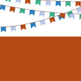 Holiday background with blue, orange, green flags. Holiday background with blue, orange and green flags Royalty Free Stock Images