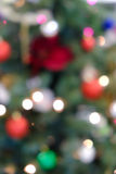 Holiday background with blurred lights Stock Photo