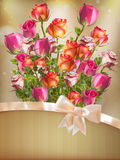 Holiday background with bouquet. EPS 10 Stock Images