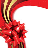 Holiday background with bow. Vecotr illustration Royalty Free Stock Photos