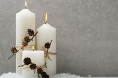 Holiday background with candles Stock Images