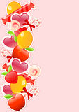 Holiday background with candy and fruits Stock Images