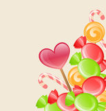 Holiday background with candy Stock Image