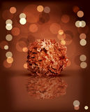 Holiday background with chocolates Royalty Free Stock Image