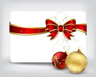 Holiday background with Christmas balls. Background with card and Christmas balls, illustration Royalty Free Stock Photo