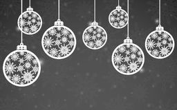 Holiday background with christmas balls. Merry Christmas and Happy New Year Royalty Free Stock Photos