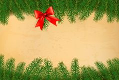 Holiday background with christmas branches of tree Stock Photography