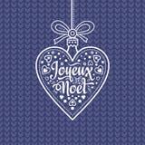 Holiday Background. Christmas Card. Joyeux Noel. Royalty Free Stock Photo