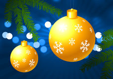 Holiday background with Christmas Ornament Stock Images