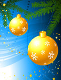 Holiday background with Christmas Ornament Stock Photo