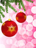 Holiday background with Christmas Ornament Stock Image