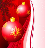 Holiday background with Christmas Ornament Stock Photography