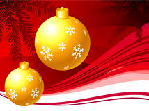 Holiday background with Christmas Ornament Royalty Free Stock Photo