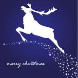 Holiday background with christmas reindeer Royalty Free Stock Image