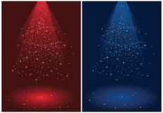 Holiday background with Christmas tree Stock Photos