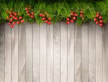 Holiday background with christmas tree branches. Royalty Free Stock Photos