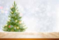 Holiday background with a Christmas tree and colorful balls. Vector Royalty Free Stock Photo