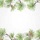 Holiday background with christmas tree. Great for christmas cards, banners, flyers, party posters. Vector illustration. Holiday background with christmas tree stock image