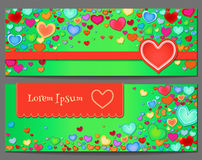 Holiday background with color hearts. Abstract background Royalty Free Stock Photos