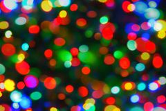 Holiday color unfocused lights Royalty Free Stock Image