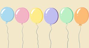 Holiday or background with colorful balloon, vector