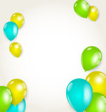 Holiday background with colorful balloons Royalty Free Stock Photos