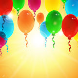 Holiday background with colorful balloons Stock Image