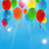 Holiday background with colorful balloons. With place for your text Royalty Free Stock Photography