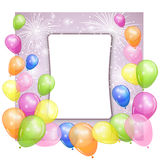 Holiday background with colorful balloons. Vector illustration Royalty Free Stock Photos