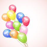 Holiday background with colorful balloons. Royalty Free Stock Photography