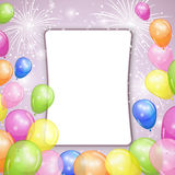 Holiday background with colorful balloons. Vector illustration Royalty Free Stock Images