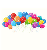 Holiday background with colorful balloons. Vector illustration for holiday or greeting cards, web, print and other design Stock Photography