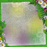 Holiday background with colorful flowers Royalty Free Stock Images